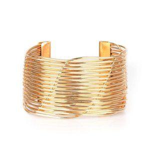 Retro Revamp - Gold Bracelet Cuff Jewelry